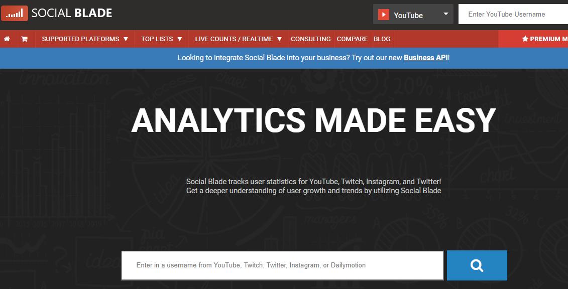 Youtube营销必备工具Socialblade教程 2021版-02